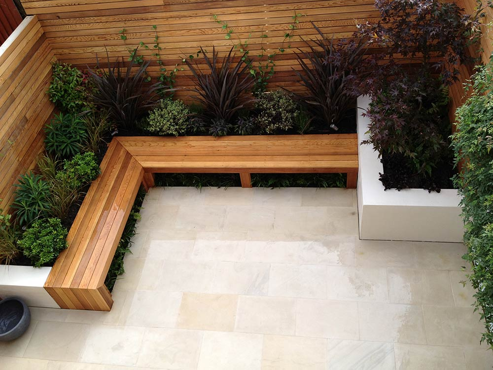 Contemporary garden design balham london garden design - Garden design terraced house ...