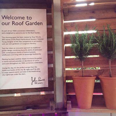 John Lewis Roof Garden Oxford Street